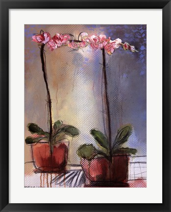 Framed Orchid and Lace I Print