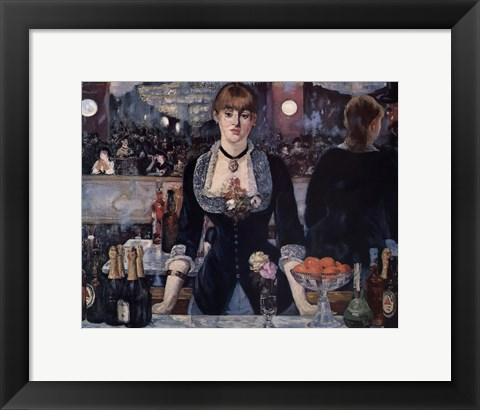Framed Bar at the Folies Bergere Print