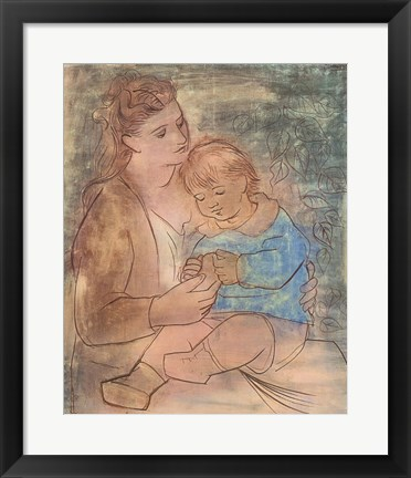 Framed Mother and Child Print