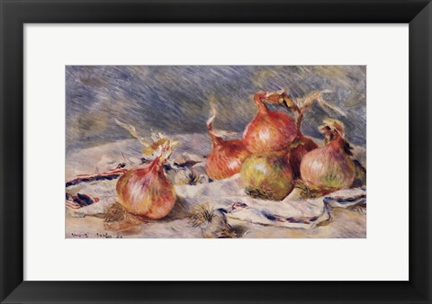 Framed Onions Print
