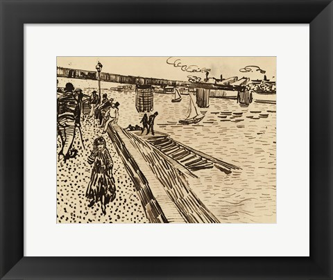 Framed Iron Bridge Print