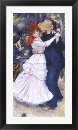 Framed Dance at Bougival Print