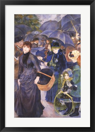 Framed Umbrellas Print