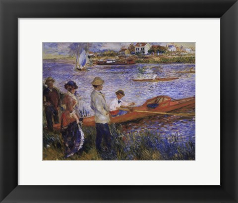 Framed Oarsmen at Chatou Print