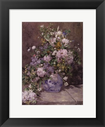 Framed Spring Bouquet, 1866 Print