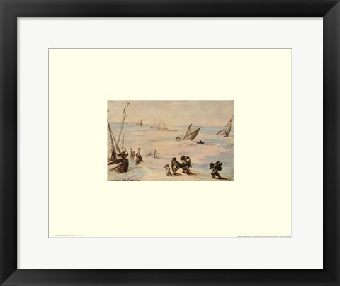Framed Stormy Sea Print