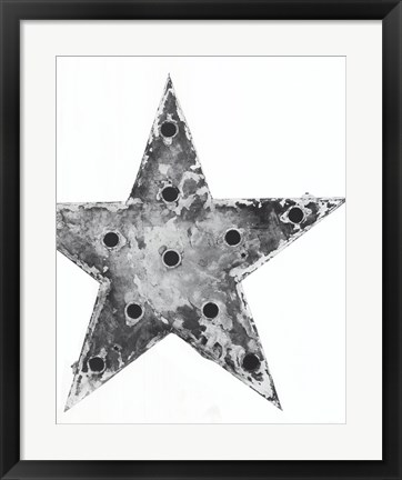 Framed Electric Star Print