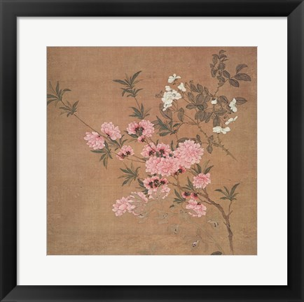 Framed Cherry Blossoms and Wild Roses Print