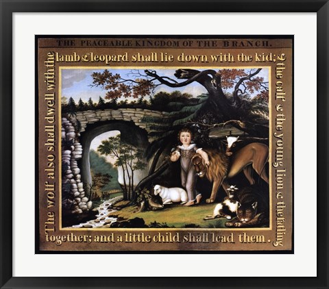 Framed Peaceable Kingdom of the Branch Print