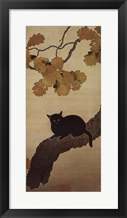 Framed Black Cat Print