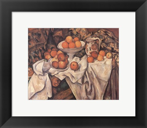 Framed Apples and Oranges, c.1895 Print