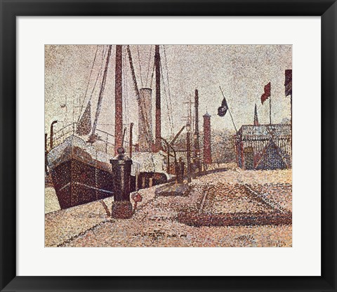Framed Maria At Honfleur Print