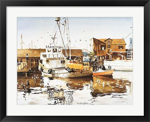 Framed Marina Reflections Print
