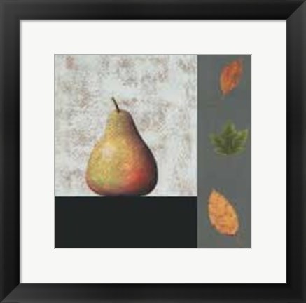 Framed Pear and Leaves Print