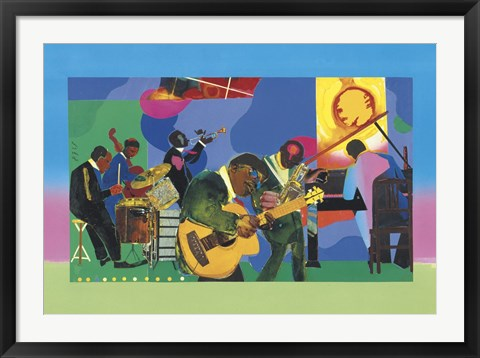 Framed Jammin' at the Savoy Print