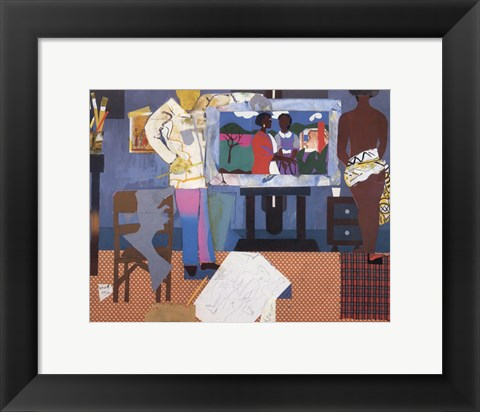 Framed Profile/Part II, The Thirties: Artist with Painting and Model, 1981 Print