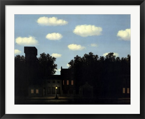 Framed Empire of Light II, 1950 Print