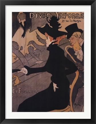 Le divan japonais painting by henri de toulouse lautrec at for Divan japonais poster value