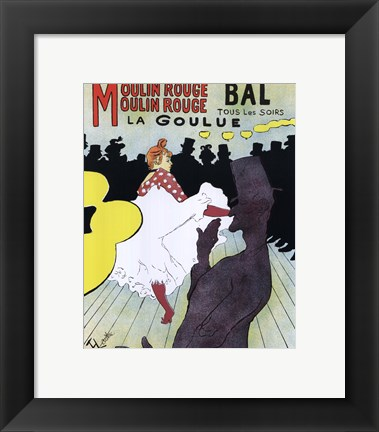 Framed Poster, Moulin Rouge, 1891 Print