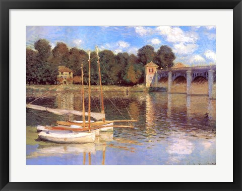 Framed Bridge at Argenteuil Print
