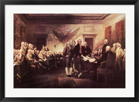 Framed Declaration of Independence Print