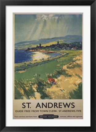 Framed Vintage Golf - St Andrews Print