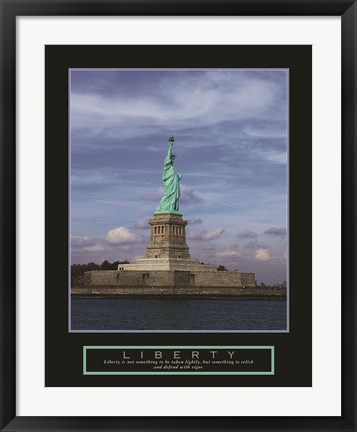 Framed Liberty-Statue of Liberty Print