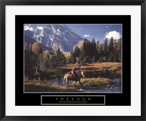 Framed Freedom - Cowboys Print