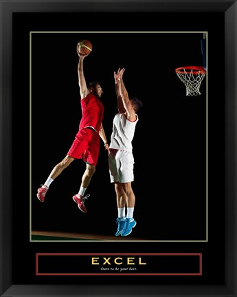 Framed Excel - Basketball Print