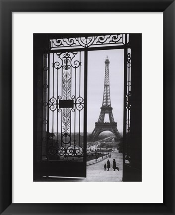 Framed Eiffel Tower from the Trocadero Print