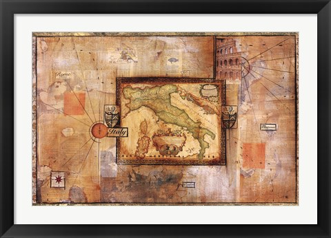 Framed Italian Excursion Print