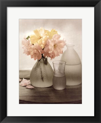 Framed Frosted Glass Vases III Print