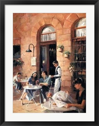 Framed Cafe Society II Print