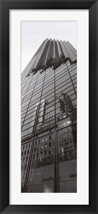 Framed Skyscraper Reflections Print