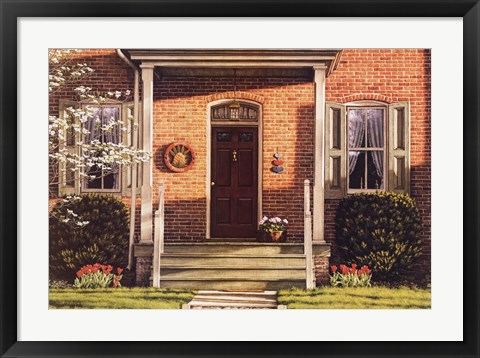 Framed Welcome Home Spring Print