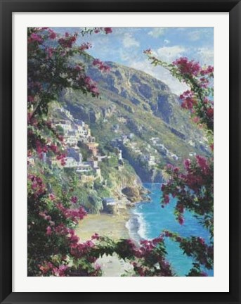 Framed Positano, The Amalfi Coast Print