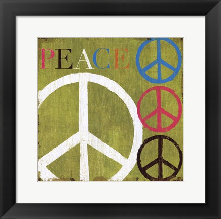 Framed Peace Print