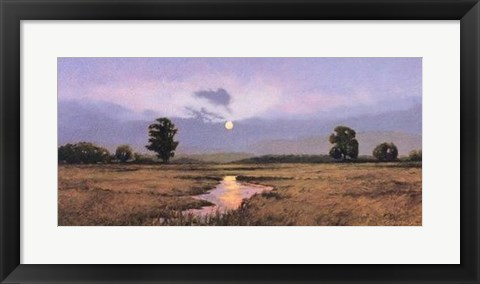 Framed Evening on a Marsh Print