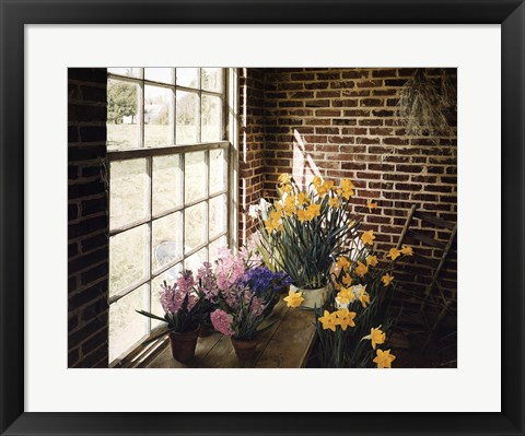 Framed Flower House Morning Print