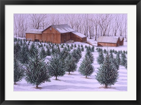 Framed Xmas Tree Farm Print