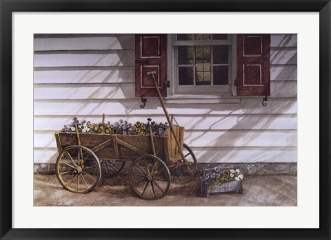 Framed Pansies 4 Sale Print