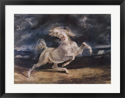 Framed Frightened Horse Print