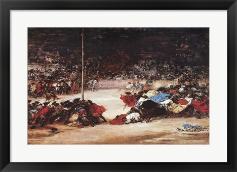 Framed Bullfight Print