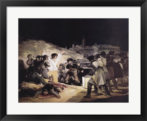 Framed Execution of Rebels of the 3Rd O Print