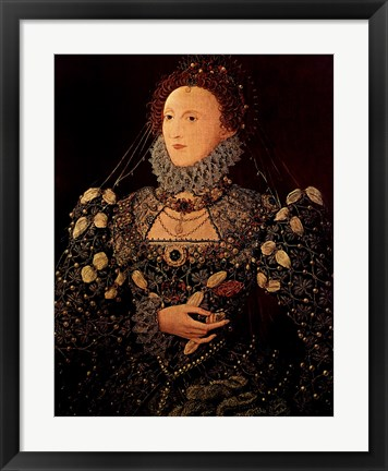 Framed Queen Elizabeth I Print