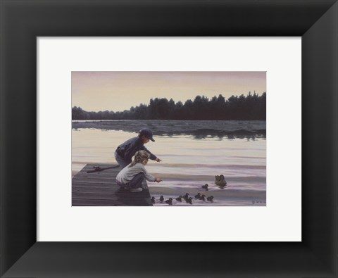 Framed Sharing a Moment Print
