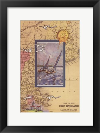 Framed Atlantic Sailing Print