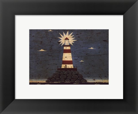 Framed Lighthouse I Print