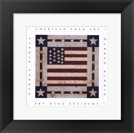 Framed Flag Square Print