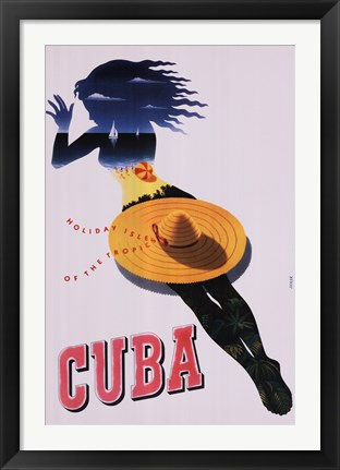 Framed Cuba, Holiday Isle of the Tropics Print